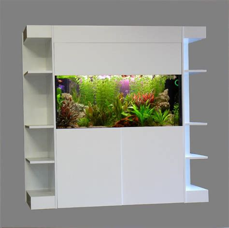 meuble aquarium blanc laque uccdesign