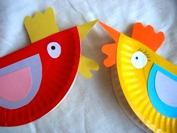 41 Excellent Paper Plate Craft Ideas  Hens, Red Hen And