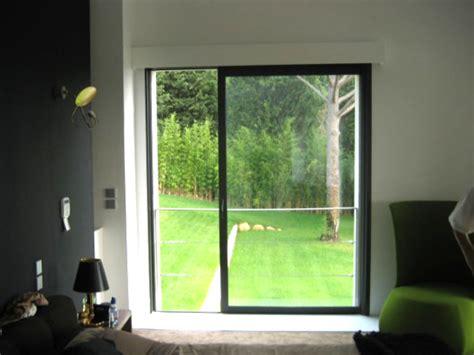 ouverture salon cuisine baie vitrée à galandage 1 vantail et 1 rail