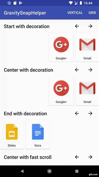 Decoration Snap Example Features Recyclerview