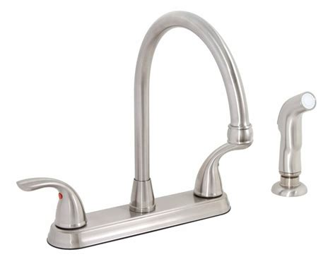 Premier 120448lf Bayview Brushed Nickel Two-handle Kitchen
