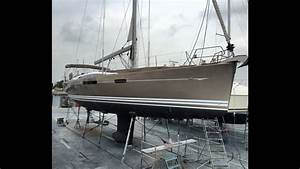 Jeanneau 57 Yacht Haul Out For Bottom Paint Hull Design
