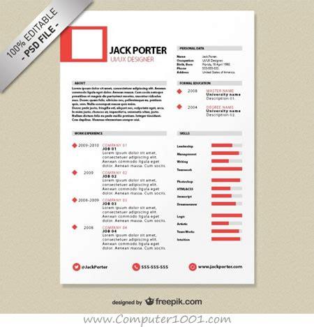 gratis  template resume  cv  kreatif