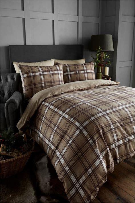 100% Brushed Cotton Tartan Quilt Duvet Cover & Pillowcase