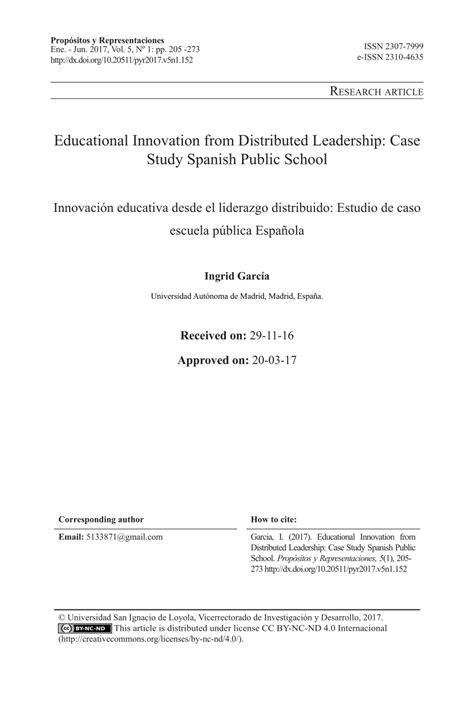 educational innovation  distributed leadership