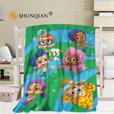 custom bubble guppies blanket soft diy picture decoration