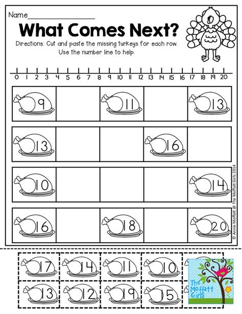 Free Printable Thanksgiving Math Worksheets For Kindergarten  The Art Jinni