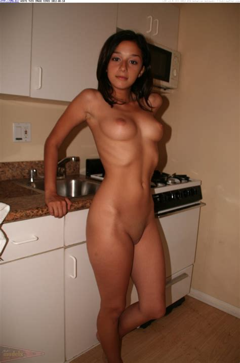 Cleaning kitchen nude