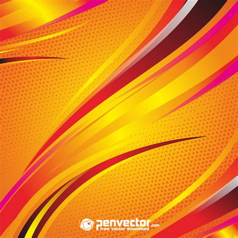 abstract line orange background free vector