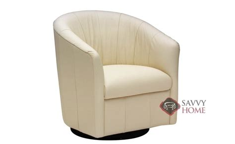 adda a835 leather swivel chair by natuzzi is fully
