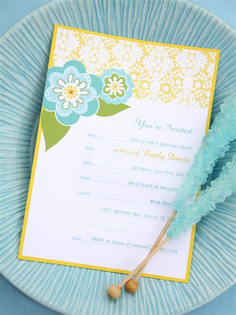 16 (Free ) Printable Party Invitations for Any Occasion HGTV