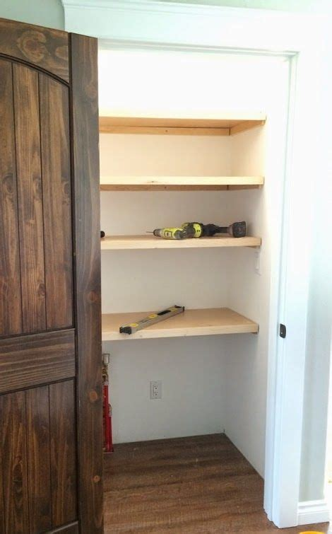 pantry or closet shelving places and spaces