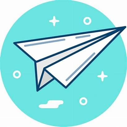 Icon Send Paper Origami Plane Pesawat Kertas
