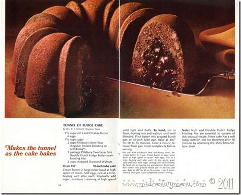 tunnel  fudge cake  mid century recipe test  mid