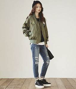 Patch Detailed Bomber Jacket | Korean Daily Hot Look | Pinterest | Patches Korean fashion and ...