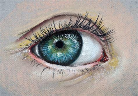 drawn blue eyes easy pencil   color drawn blue eyes
