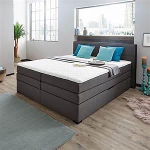 Boxspringbetten 160x200 Sale : boxspringbett 160 200 cm in grau schwarz ~ Watch28wear.com Haus und Dekorationen