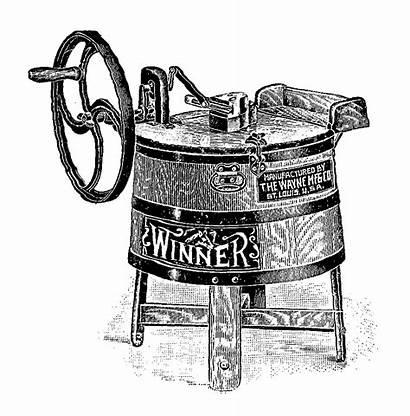 Washing Machine Clip Transfer Antique Digital Winner