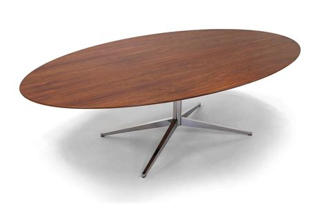 Florence Knoll Elliptical / Oval Inch Rosewood Dining
