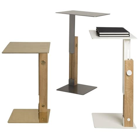 table that slides slide table adjustable side table designed by omri revesz for sale at 1stdibs