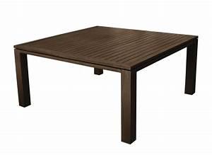 Table Salon Carrée : table de jardin carr e fiero 160cm mobilier de jardin proloisirs ~ Teatrodelosmanantiales.com Idées de Décoration