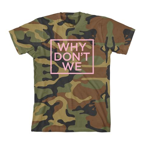 Why Don't We Camo Tshirt (pink