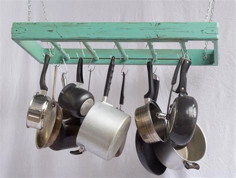 Pot And Pan Holders Ceiling by Pot Rack Ceiling Mounted Rectangular Large 5 Rungs