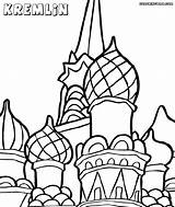 Kremlin Coloring Cathedral Basil sketch template