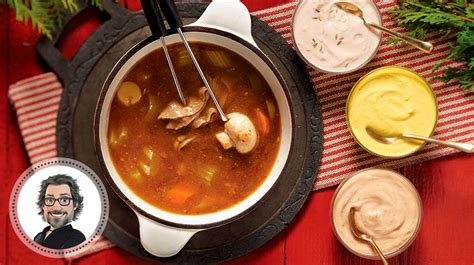 recette de cuisine thailandaise bouillon à fondue maison et trio de sauces de christian