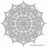 Coloring Complex Mandala Pages Printable Unique Getcolorings sketch template