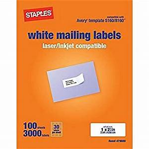 staples white mailing labels for laser printers 1 x 262 With staples white mailing labels template