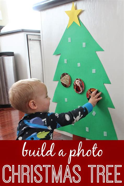 toddler approved build a photo christmas tree for babies
