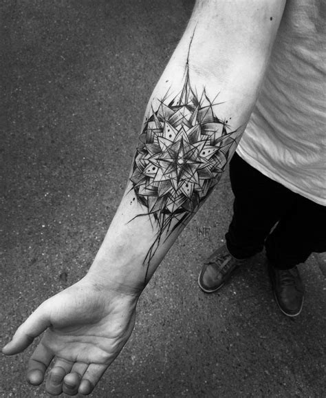 sketch mandala forearm tattoo  tattoo design ideas