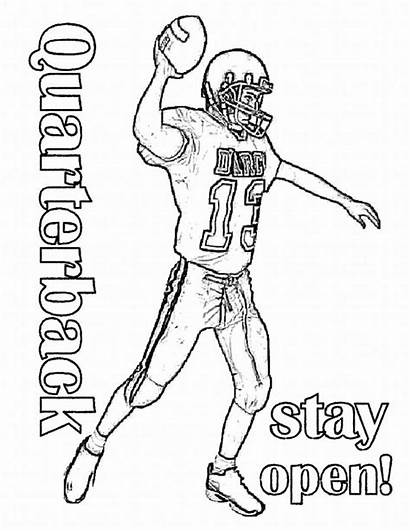 Football Coloring Pages Sports Team Boys