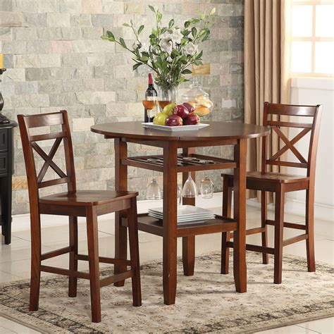 tartys pcs counter ht dining set drop side leaves table