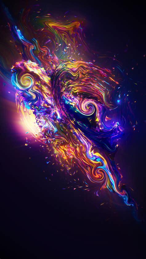 wallpaper carnival render colorful fractal neon sci