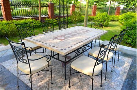 outdoor garden 160 200 240cm mosaic marble