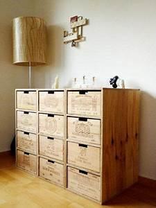Weinregal Aus Weinkisten : 25 best wine box accent wall images on pinterest wine boxes wine crates and wine cellars ~ Markanthonyermac.com Haus und Dekorationen