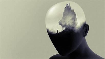 Exposure Double Head Monochrome Minimalism Arte Desktop