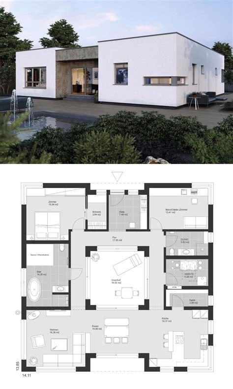 Bauhaus Architektur Einfamilienhaus by Bauhaus Bungalow Architektur Modern Grundriss Mit Innenhof