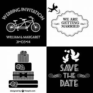 black and white wedding invitations collection vector With black and white wedding invitations vector