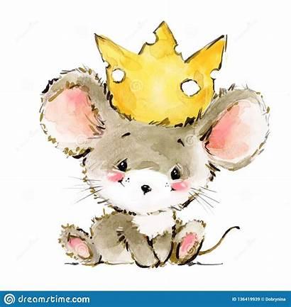 Mouse Cartoon Mice Watercolor Illustration Adorable