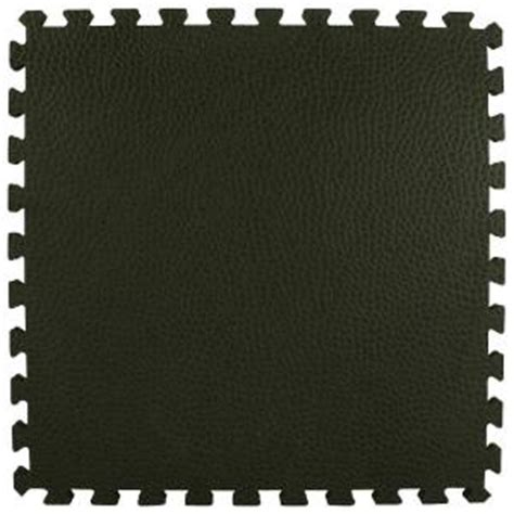 home depot flooring foam greatmats pebble top black 24 in x 24 in x 3 4 in foam interlocking gym floor tile case of