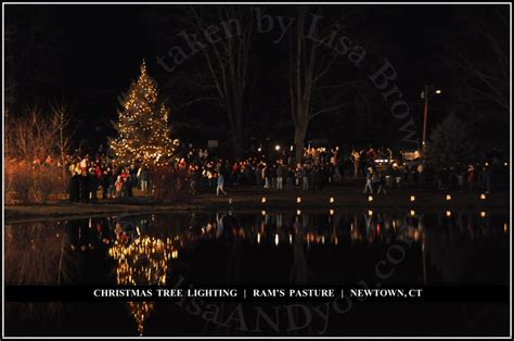 newtown s annual tree lighting ceremony at ram s pasture 2010