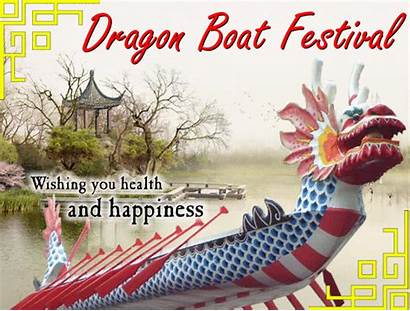 Festival Dragon Boat Wishes Card Greetings Dragonboat
