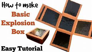 How To Basic : how to make basic explosion box friendship day gift ideas youtube ~ Buech-reservation.com Haus und Dekorationen