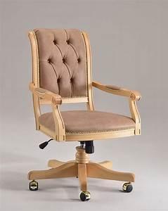 Sedia classica girevole, imbottita, per uffici direzionali IDFdesign