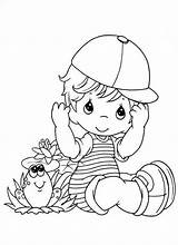 Coloring Pages Precious Moments Boy Baby Little Cute Boys Printable Frog Drawing Print Temple Jesus Soccer Playing Gacha Fun Anime sketch template