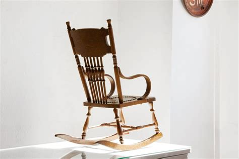 Antique Child's Rocking Chair With Hand-tooled Leather Seat At 1stdibs Circle Comfy Chairs Ball Chair Base Only Nursing Walmart Used Folding School Desk Ikea Vanity Country Accent Air Hydrofoil