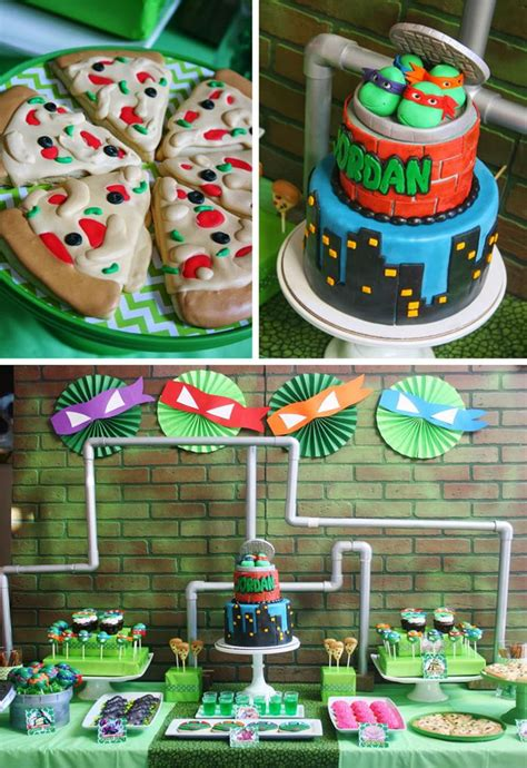 kara 39 s party ideas teenage mutant ninja turtles party planning ideas supplies idea cake